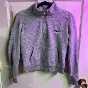 PINK half zip hoodie size S